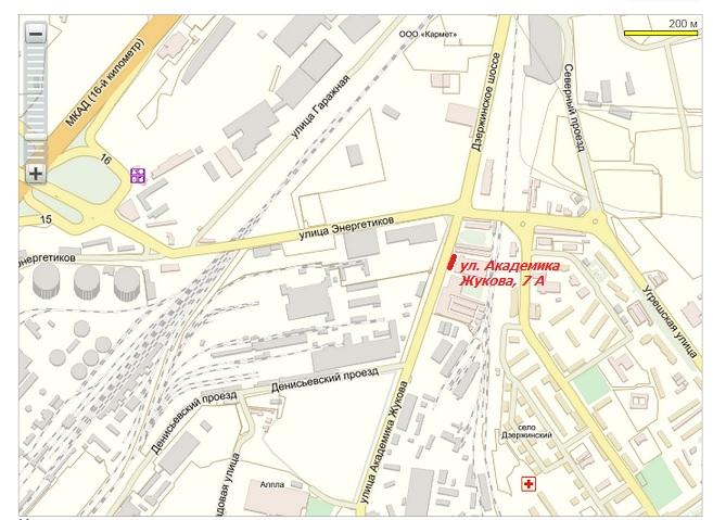 Карта проезда в центральный офис